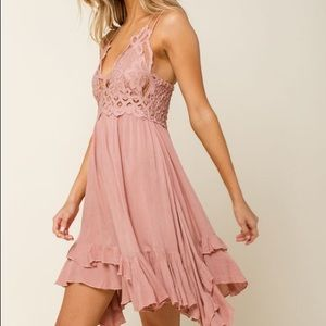 New with tag Free people Adella lace boho dress L